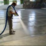 A protective spray for a floor